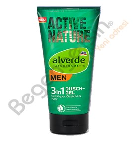alverde MEN 3in1 Duschgel Active Nature duş jeli Aktif Doğa 200 ml
