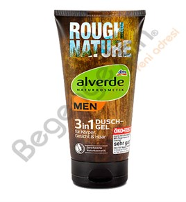 alverde MEN 3in1 Duschgel Rough Nature Duş Jeli Kaba Doğa 200 ml